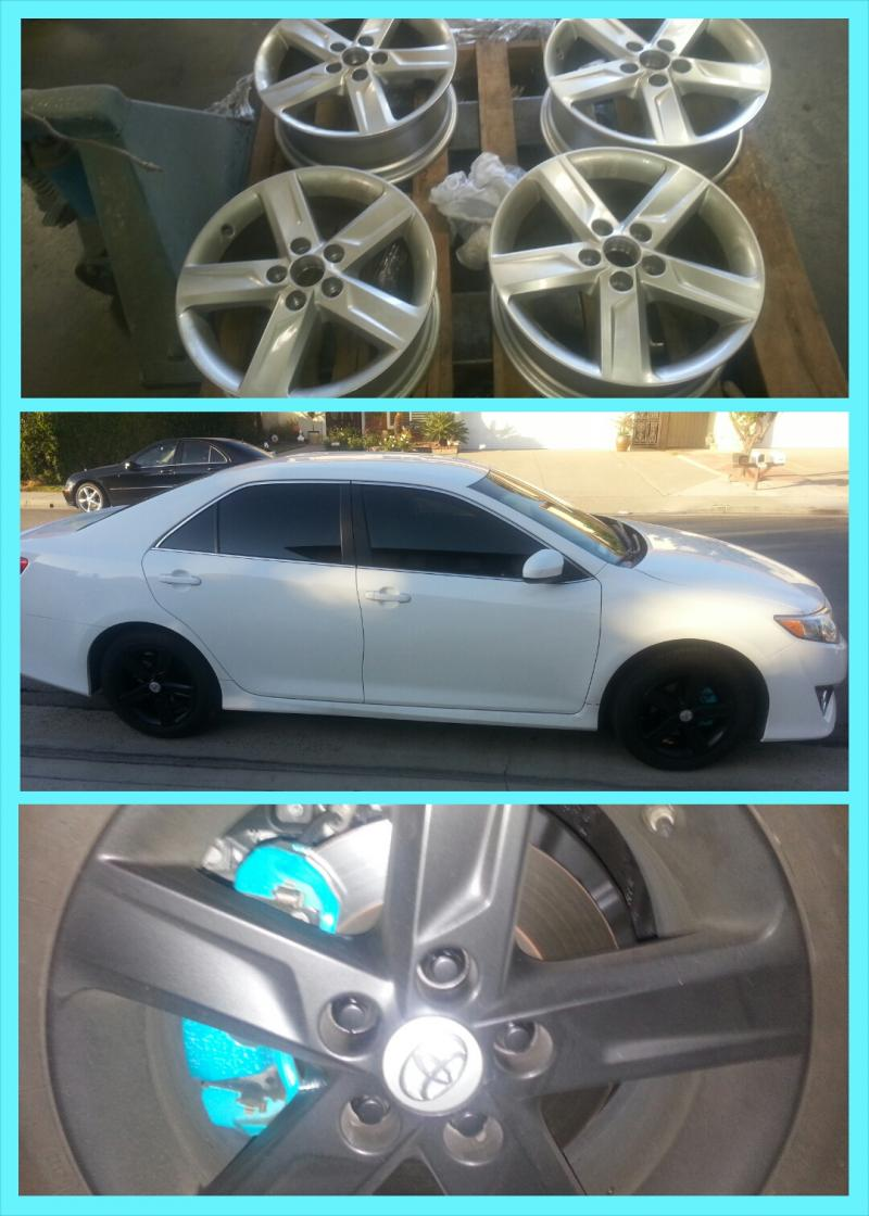 Matte Black Rims with Candy Teal Calipers